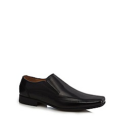Henley Comfort - Black leather 'Norman' slip on shoes