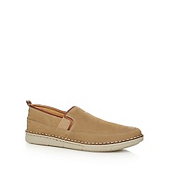 Henley Comfort - Beige leather 'Swinley' slip on shoes