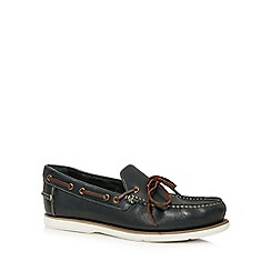 Maine New England - Navy leather moccasins