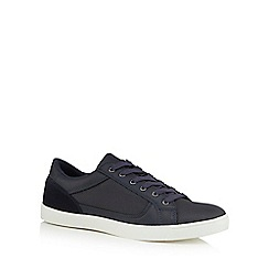 Red Herring - Navy textured insert trainers