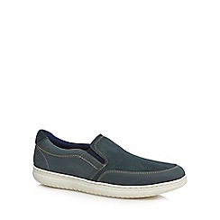 Maine New England - Blue suede 'Cork' slip on trainers