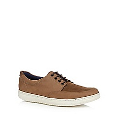 Maine New England - Beige leather 'Torbay' trainers