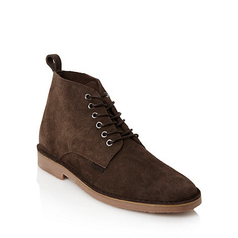 Ben Sherman - Brown soft suede ankle boots