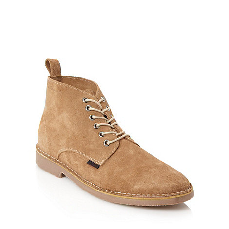Ben Sherman - Beige soft suede ankle boots