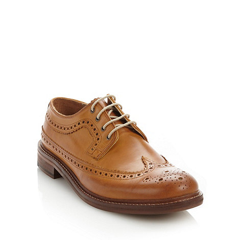 Ben Sherman - Tan leather brogues with perforated design