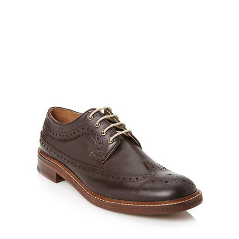 Ben Sherman - Brown contrasting soled brogues