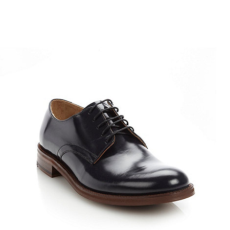 Ben Sherman - Navy blue patent leather lace up formal shoes