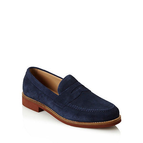 Ben Sherman - Navy contrasting soled suede loafers