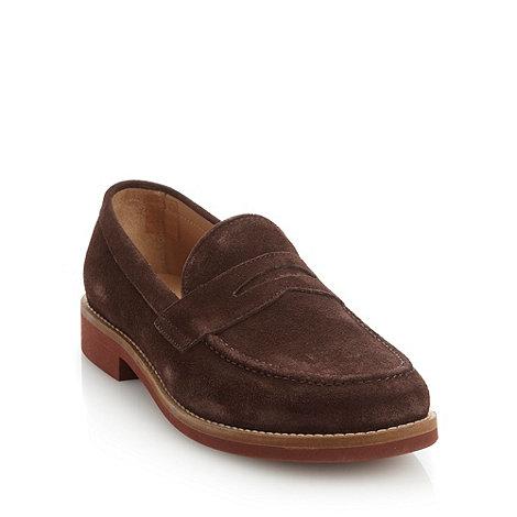 Ben Sherman - Brown suede designer loafers