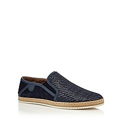 Hammond & Co. by Patrick Grant - Navy 'Francis' weave slip on shoes