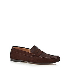 Hammond & Co. by Patrick Grant - Dark brown 'Cambridge' suede loafers
