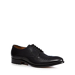 Jeff Banks - Black leather 'Benjamin' Goodyear welted sole Derby brogues