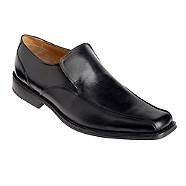 Thomas Nash - Black folded seam tramline slip on shoes