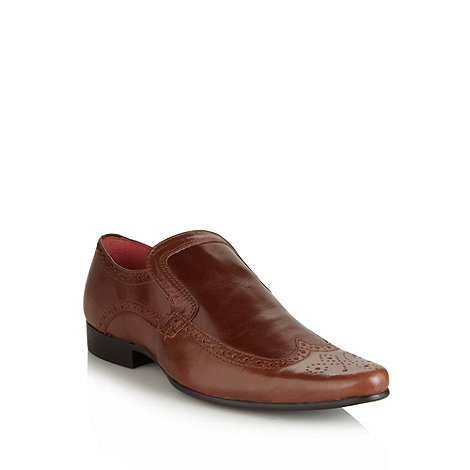 Red Tape - Brown pointed leather brogues