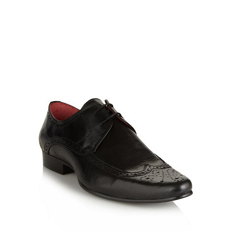 Red Tape - Black pointed leather brogues