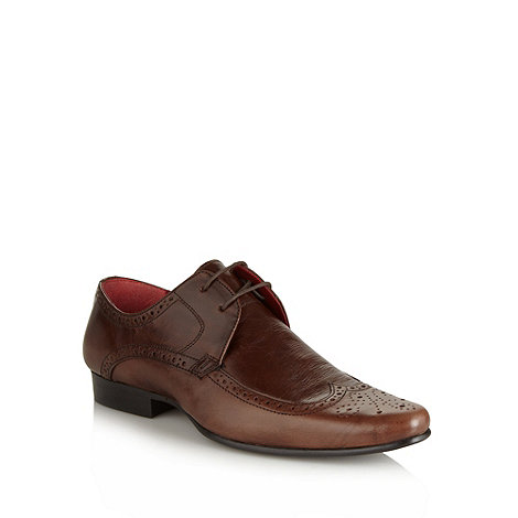 Red Tape - Brown leather two eye brogues