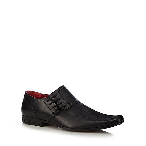 Red Tape - Black leather side lace shoes