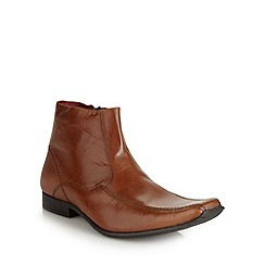 Red Tape - Tan leather tramline boots
