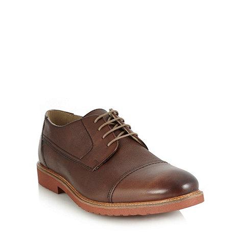 RJR.John Rocha - Designer brown leather cap toed shoes