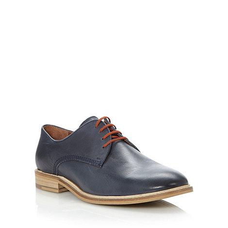 RJR.John Rocha - Designer navy leather contrasting sole shoes