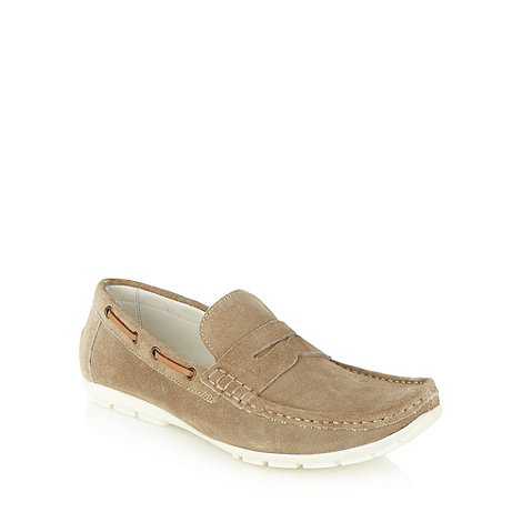J by Jasper Conran - Designer natural suede loafers