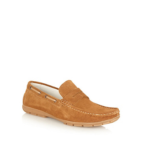 J by Jasper Conran - Designer tan suede loafers