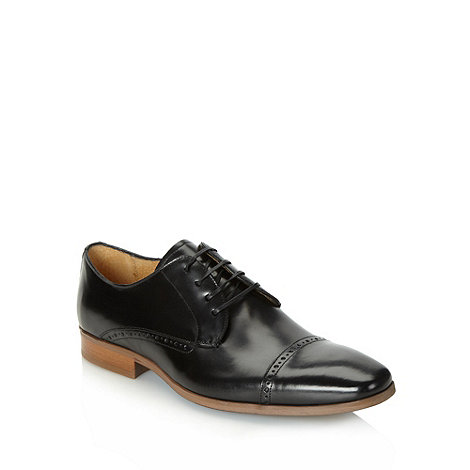 J by Jasper Conran - Designer black leather toe cap brogues