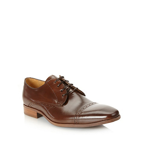 J by Jasper Conran - Designer brown square cap toed shoes
