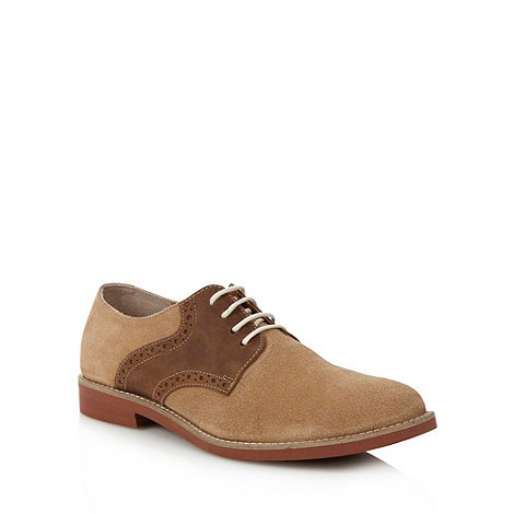 J by Jasper Conran - Designer tan panelled suede lace up shoes