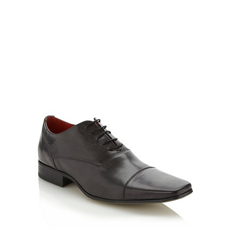 Jeff Banks - Designer grey leather capped shoes