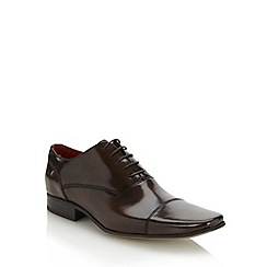 Jeff Banks - Designer brown coated leather capped shoes