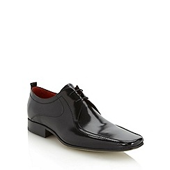 Jeff Banks - Designer black tramline leather shoes