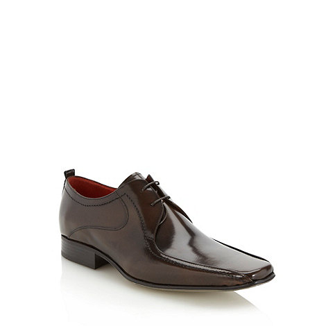 Jeff Banks - Designer brown tramline leather shoes