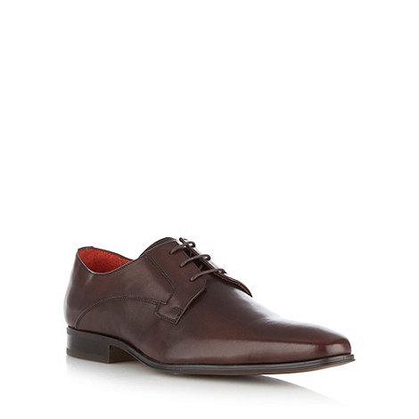 Jeff Banks - Designer dark brown leather shoes