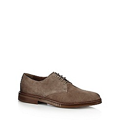 J by Jasper Conran - Grey suede 'Denni' lace up Derby shoes