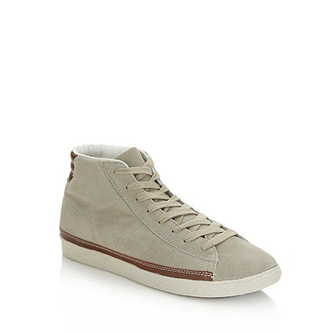 Red Herring - Grey suede high top trainers