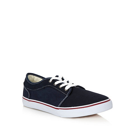 FFP - Navy suede panelled trainers