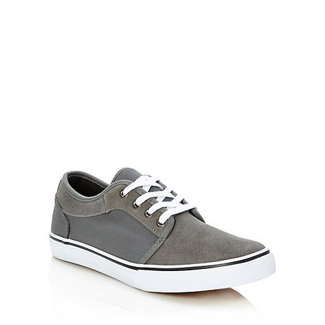 FFP - Grey suede trimmed lace up trainers