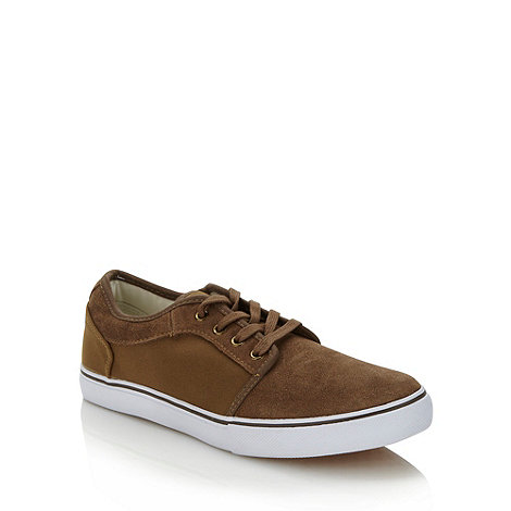 FFP - Tan suede panelled trainers