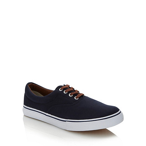 FFP - Navy contrasting lace trainers