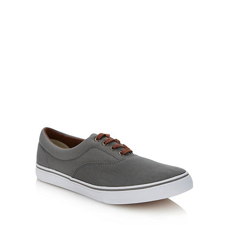 FFP - Grey lace up canvas trainers