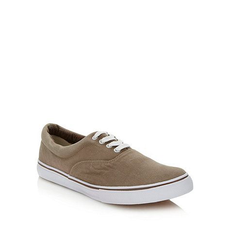 FFP - Beige lace up canvas trainers