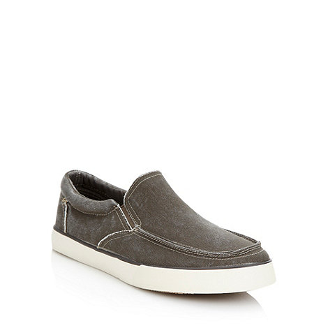 FFP - Brown washed canvas slip on shoes