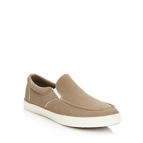 FFP - Beige washed canvas slip on shoes