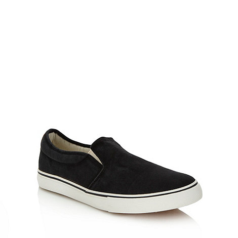 FFP - Black washed canvas slip on shoes