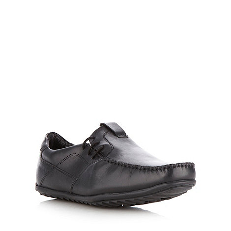 Thomas Nash - Black side lace apron front shoes