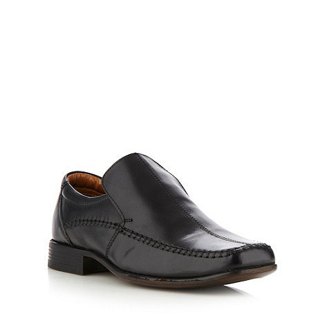 Thomas Nash - Black chunky stab stitched slip on shoes