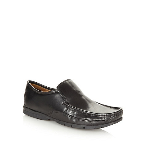 Thomas Nash - Black square toed loafers