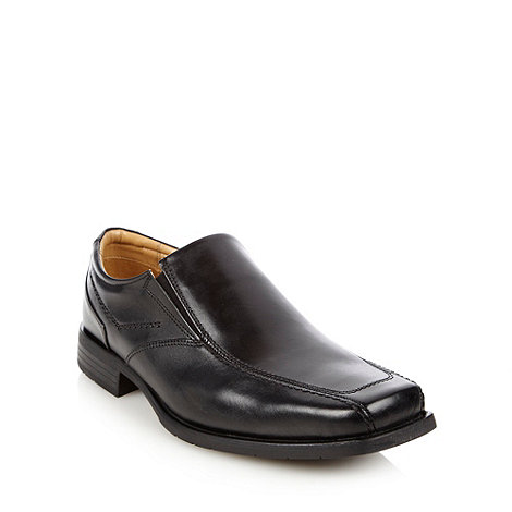 Thomas Nash - Wide fit black slip on shoes