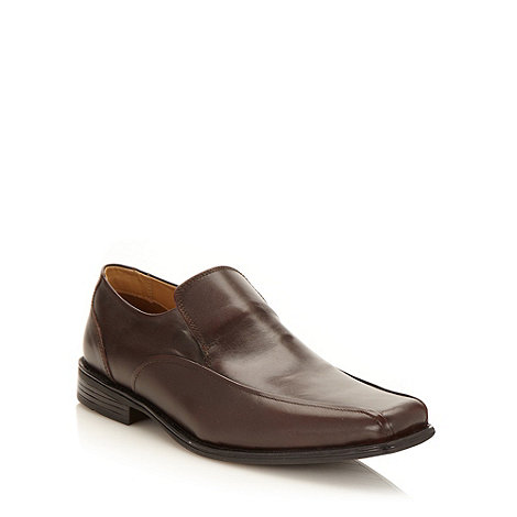 Thomas Nash - Brown leather apron front shoes